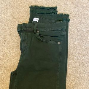 Loft green jeans, worn twice